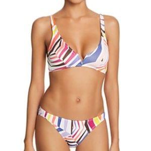 Kate Spade Geobrella V Wire Bikini Multi Striped